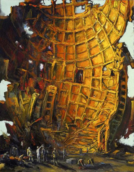 CrashSite 2016 oil on canvas
