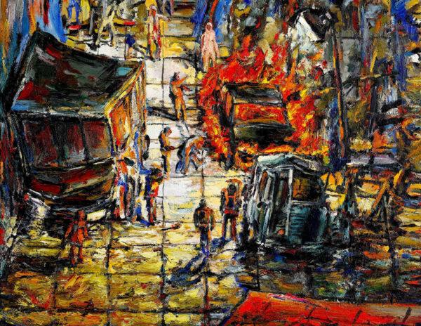 CrashTest 2016 oil on canvas